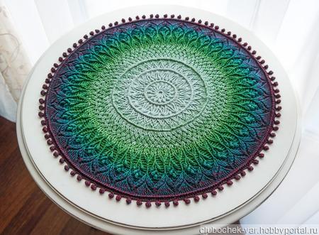 Салфетка рельефная большая ручной работы на заказ