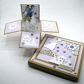 """Раскладная открытка в коробочке """"Снежный Ангел"""""""