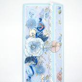 Открытка для женщины голубая