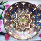 Тарелка интерьерная, авторская ручная роспись