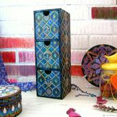 Комодик для украшений/мелочей, авторская ручная роспись