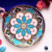 Декоративная тарелка, авторская роспись