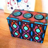 Шкатулка-подсвечник, коробочка, авторская роспись