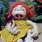 Рёвушка - кукла из капрона (интерьерная)