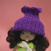 Амигуруми куклы и игрушки: Кукла Ния с зайчиком
