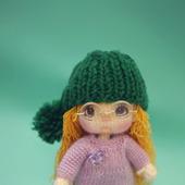 Амигуруми куклы и игрушки: Кукла Ариша с котенком