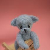 Амигуруми куклы и игрушки:  Голубой щенок