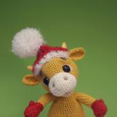 Амигуруми куклы и игрушки:  Бычок новогодний