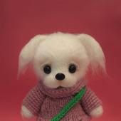Амигуруми куклы и игрушки: Белый щеночек