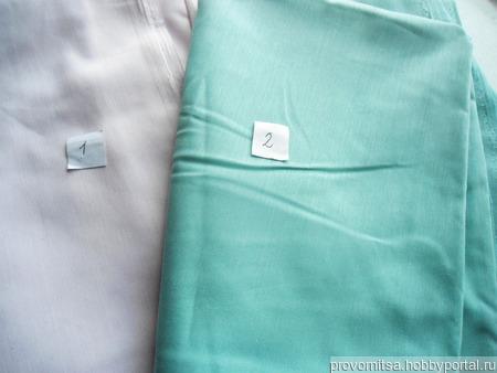 Ткань сорочечная поплин винтаж ручной работы на заказ
