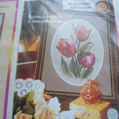 """Набор для вышивки """"Бутоньерка с тюльпанами"""""""