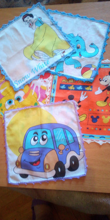 Платочки носовые детские ручной работы на заказ