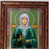 Икона вышитая бисером Матрона Московская