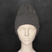 Вязаная шапка-тыковка
