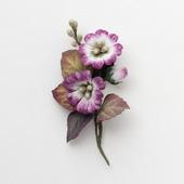 Брошь с цветами повседневная болотный фиолетовый коричневый