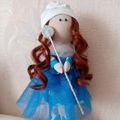Интерьерная кукла: Фея в голубом