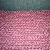 Шарф вязаный вручную из крупной пряжи 2 Розовый
