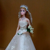 Платье свадебное (бальное) для Барби и ее аналогов