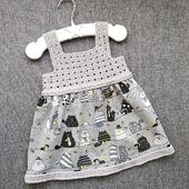 Платье - сарафан из хлопка для девочки