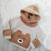 Детский джемпер со съемным капюшоном