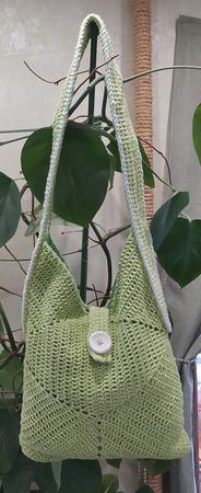 Летняя сумка вязаная двусторонняя ручной работы на заказ