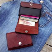 Кожаный кошелек, картхолдер, визитница