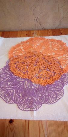 Салфетки кружевные разноцветные ручной работы на заказ