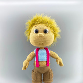 Вязаная кукла мальчик