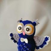 """Совушка """"с крыльями"""" синяя"""