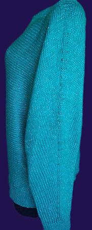МК Женский свитер из кашемира, связанного поперек спицами ручной работы на заказ