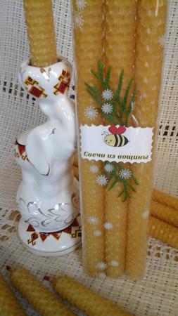 Свечи из вощины ручной работы на заказ