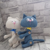 Интерьерные мягкие игрушки – Котики