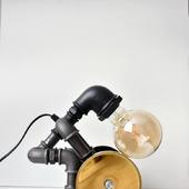 Светильник в стиле Лофт Серебряный Штангист