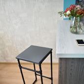 Барный стул/табурет в стиле Лофт из водопроводных труб