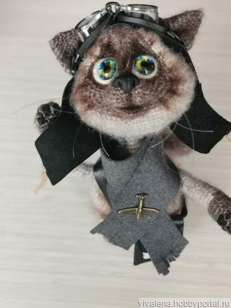 Кот летчик ручной работы на заказ