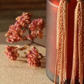 Серьги-кисти из цепочек «Малиновое вино»