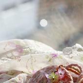 Кулон из глины «Этюд в розовом»