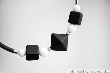 Колье-чокер «Геометрия» ручной работы на заказ