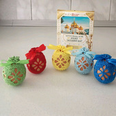 Вязаные мешочки для пасхальных яиц