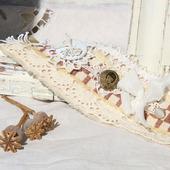 Браслет-манжета текстильный «Анна»