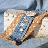 Браслет-манжета текстильный «Джейн»