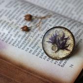 Значок с сухоцветами «Memory»