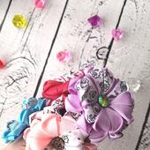Цветочки-резиночки для волос