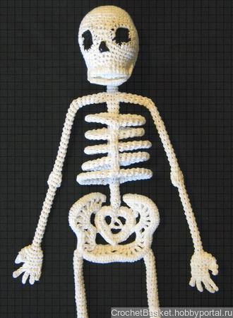 Мастер-класс по вязанию крючком мягкой игрушки «Скелет прямостоячий» ручной работы на заказ