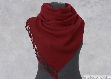"""Домотканный шарф """"Бордо"""" ручной работы на заказ"""