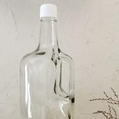 Бутылка с ручкой 1,75 л стеклянная прозрачное стекло