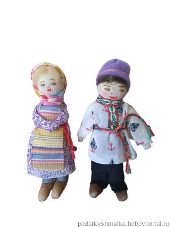 """Куклы парные """"Мальчик и девочка (крестьянские дети) ручной работы на заказ"""