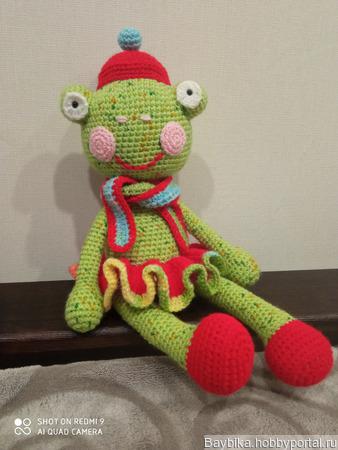 Мягкая игрушка лягушонок ручной работы на заказ