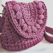 фото: сумка вязаная крючком
