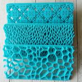 Печать для теста, марципана, полимерной глины, набор 3 шт.